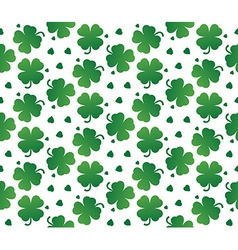 Bright seamless texture of leaves clover vector image vector image