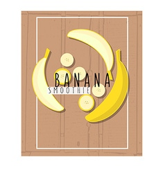 Colorful of banana slices in flat design sty vector