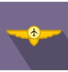 Sign of airplane with wings flat icon vector image