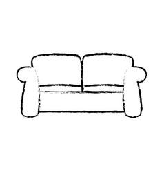 sketch sofa furniture comfort relax image vector image