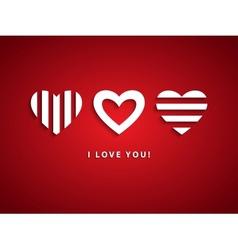 Three Hearts vector image vector image