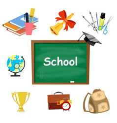 back to school background set tools vector image vector image