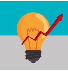 bulb light financial vector image