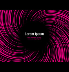 colorful spiral speed on black background vector image