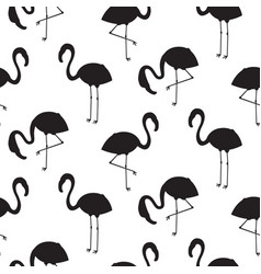 flamingo black silhouette seamless texture vector image vector image