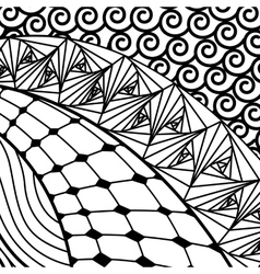 Artistically ethnic pattern vector image vector image