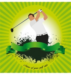 golf club poster vector image vector image