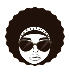 Hippie afro woman vector image