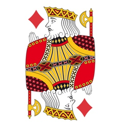 King of diamonds no card vector image vector image