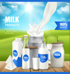 milk products poster vector image
