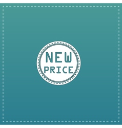 New price icon badge label or sticker vector