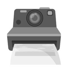 Retro photocamera icon in monochrome style vector image vector image