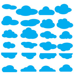 set of clouds flat icon collection vector image
