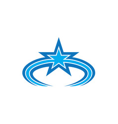 abstract star business logo vector image