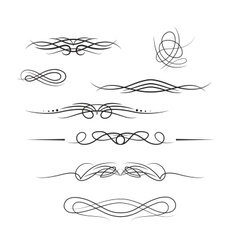 Borders and elements for design vector image vector image