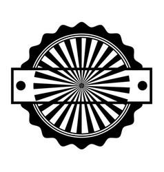 circle seal stamp frame vector image