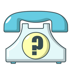 retro phone icon cartoon style vector image