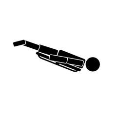 skeleton icon on white background vector image