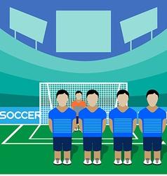Soccer Club Team on a Stadium vector image vector image