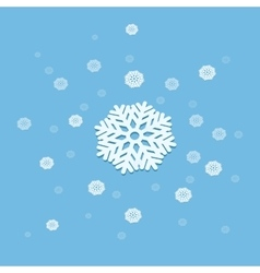 3D snowflake explosion abstract vector image