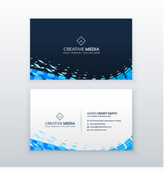 Abstract modern blue business card design vector