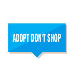 Adopt dont shop price tag vector