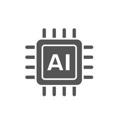 ai cpu artificial intelligence concept - computer vector image