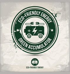 Alternative eco friendly energy stamp vector