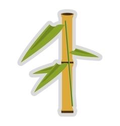 Bamboo segment icon vector