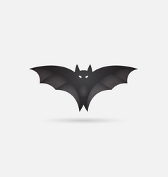 bat silhouette printable template bat icon vector image