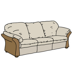 Beige and cream sofa vector