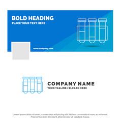 blue business logo template for test tube science vector image