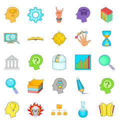 Brilliant idea icons set cartoon style vector