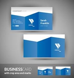 Business card template - elegant vector image