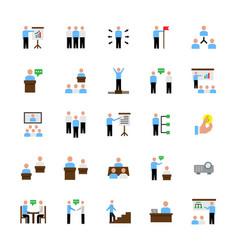 business peoplepresentationtraining icon set vector image