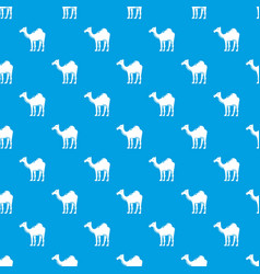 camel pattern seamless blue vector image