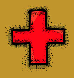 cartoon image medical cross vector image