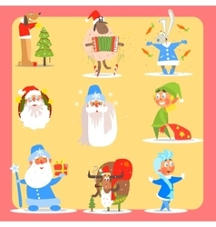 Christmas Icon Set Collection vector image