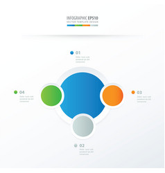 circle overlap design blue green orange gray vector image