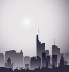 city gray vector image