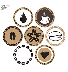 Coffee Isolated label on white background vector image