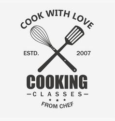 Cooking symbol cook emblem food masterclass vector