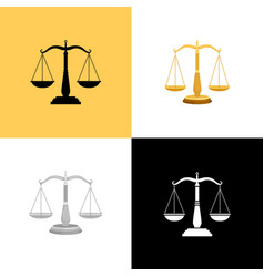 court scales set vector image