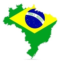Creative pixel Brazil map vector image
