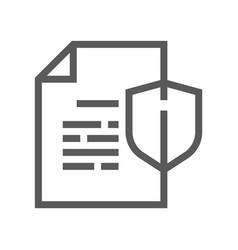 Documents line icon vector