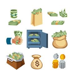 dollar paper business finance money stack symbols vector image