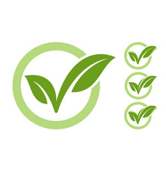 Eco checkmark icon vector