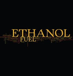 Ethanol as an alternative text background word vector