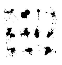 expressive splatter paints set vector image
