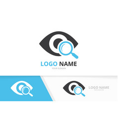 Eye and loupe logo combination unique vector